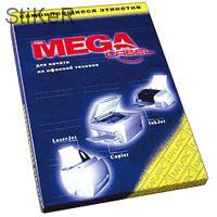 73628 Этикетки Pro MEGA LABEL А4 70г белая ( Упаковка : коробка-10 пачек по 100 листов/пач.)
