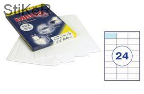 73627 Этикетки самоклеящиеся MEGA LABEL 70х35 мм / 24 шт. на листе А 4 (100 листов в пачке)